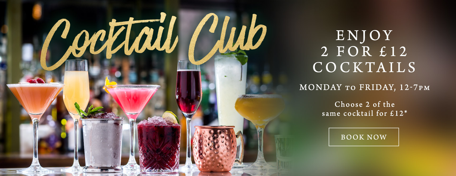 2 for £12 cocktails at The Windmill